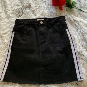 Striped Jean Skirt